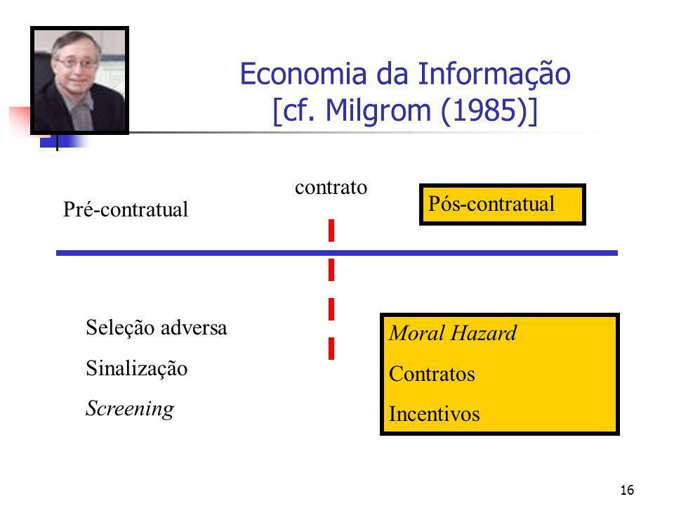 Economia da Informação [cf. Milgrom (1985)]